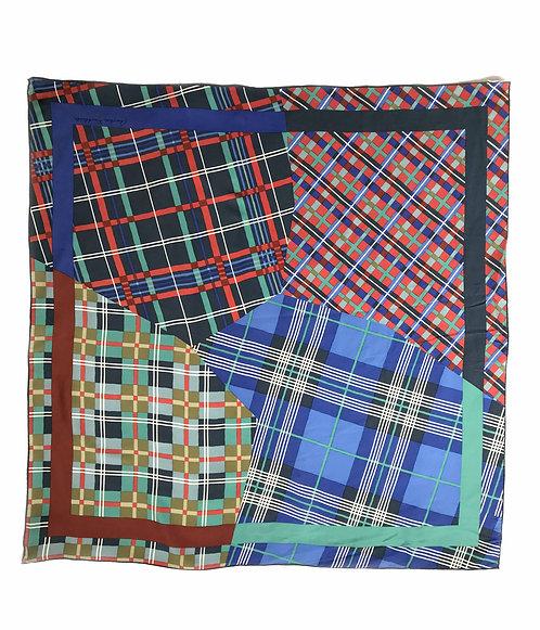 Christian Fischbacher Checkboard Silk Scarf