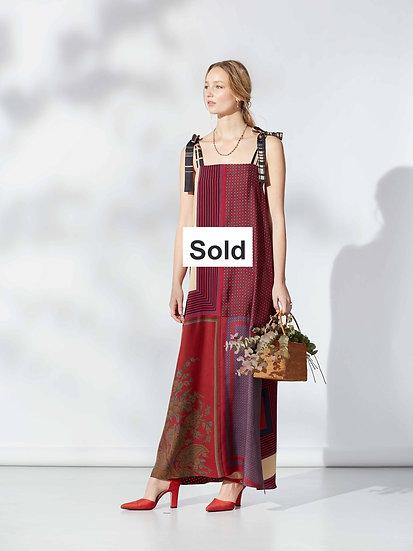 Bo Bow Long Dress / size 10-12