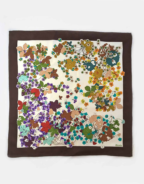 Floral Fiorio Silk Scarf