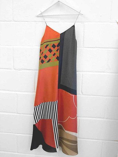 Nila Long Slip Dress / Size 10