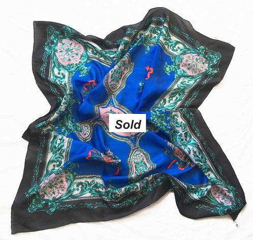 Ornate Silk Habotai Scarf