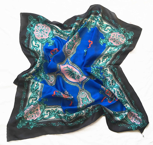 Ornate Silk Habotai Scarf