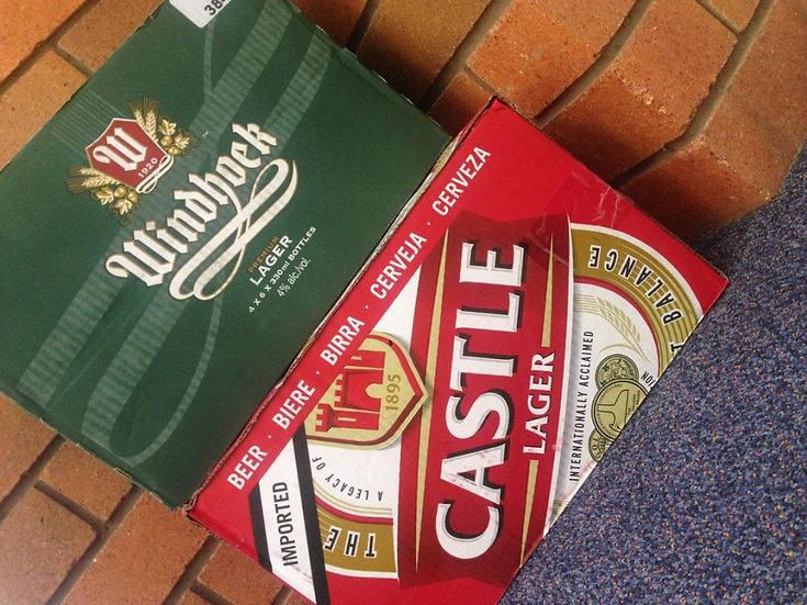 Beer 6 pack x 330/340ml Bottles
