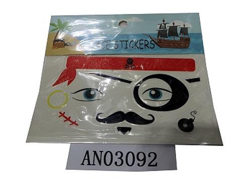03-227-77 Татуировка-наклейка (17х15 см) ПИРАТ (набор 12шт.)