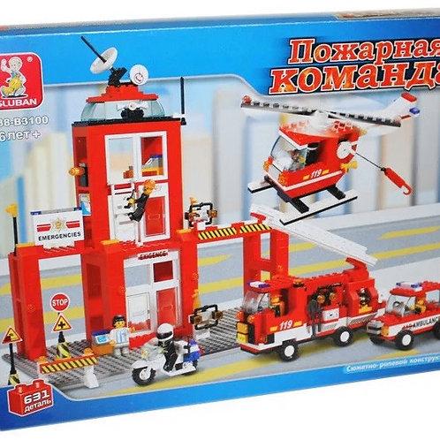 10-156-26 Конструктор SlubanГородПожарная станция JB900236