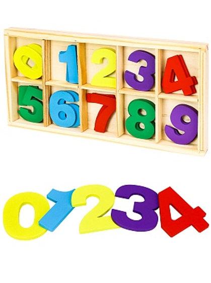 03-777-23 Деревянная игрушка. Учимся считать. Касса цифр