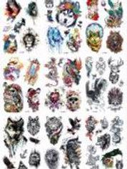 03-227-32 Татуировка-наклейка (16.5х23) Крутые рисунки микс