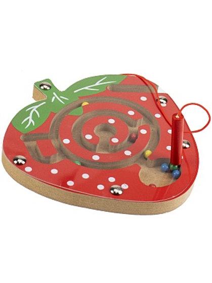 03-799-124 Деревянная игрушка: «Лабиринт с шариками Клубник»