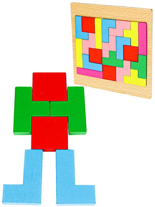 03-075-51 Деревянная игрушка. Головоломка (15х15см) ТЕТРИС
