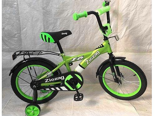 17-121-5 Велосипед детский 16 ZIGZAG SNOKY зеленый