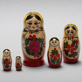 49-282 Матрешка традиционная 5 кукольная малая