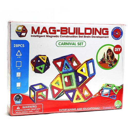 10-203-3 Магнитный конструктор MAG-BUILDING 28 дет. в кор.