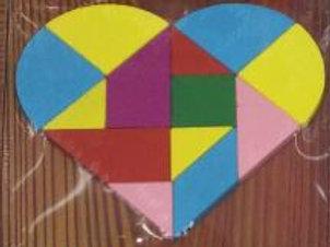03-075-9 Деревянная игрушка. Головоломка (14.5х14.8) Сердце