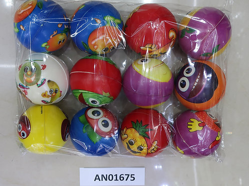 03-015-04 Мяч мягкий ППУ 7.6 см Фрукты