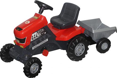 16-151-5 Каталка-трактор с педалями Turbo с полуприц.(Пол)