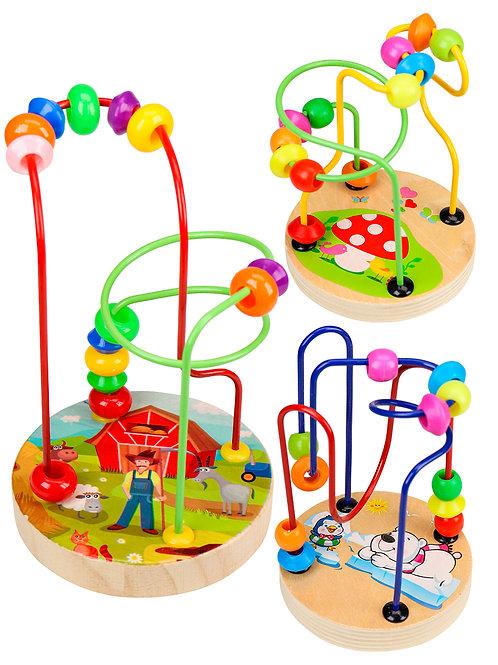 03-799-112 Деревянная игрушка. Лабиринт-5  11.5х9см (в кор.)