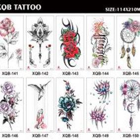 03-227-37 Татуировка-наклейка (21х11.4) Цветы 3 микс