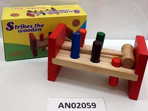 03-777-07 Деревянная игрушка: «Стучалка с молоточком»