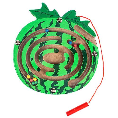 03-799-123 Деревянная игрушка: «Лабиринт с шариками Арбуз»