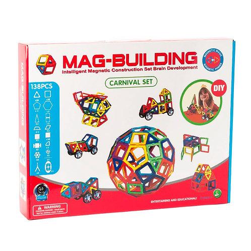 10-203-9 Магнитный конструктор MAG-BUILDING 138 дет. в кор.
