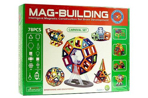 10-203-7 Магнитный конструктор MAG-BUILDING 78 дет. в кор.