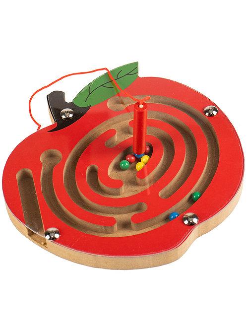 03-799-127 Деревянная игрушка: «Лабиринт с шариками Яблоко»