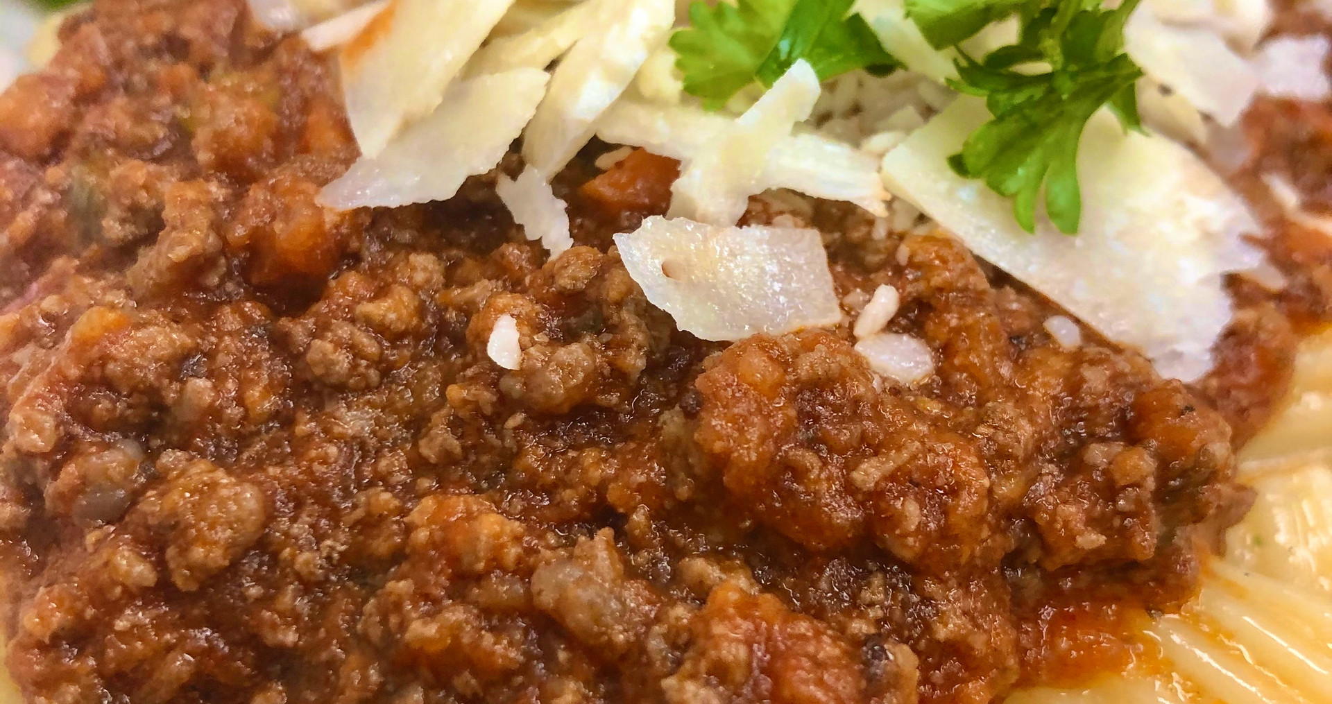Pasta Bolognese with Garden Salad & House Dressing
