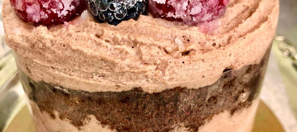 "4"" Cake Pint, Berries & Chocolate, Naked with Artisan Flair"