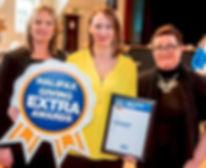 Maria Davey Receiving Halifax giving Extra Award