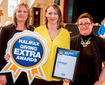 Maria Davey Receiving Halifax giving Extra Award