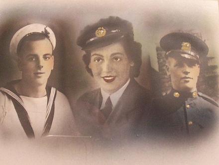Joan pictured in RAF uniform