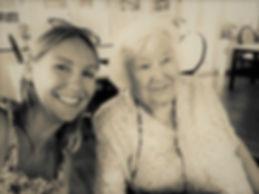 Maria Davey visiting elderly client