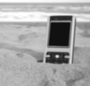 Mobile phone lost on the beach