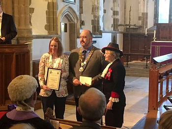 Maria Davey Receiving High Sheriff's Award