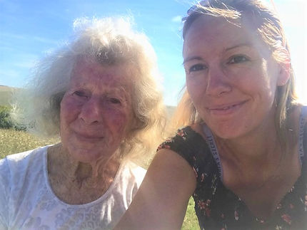 Senior enjoying day trip with companion