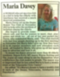 Maria Davey Featured in The Argus Newspaper 2014
