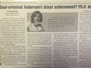 """#TBT """"Goal-oriented Anderson's latest achievement? Ph.D. before 50"""""""