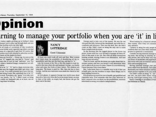 """#TBT """"Learning to Manage Your Portfolio When You Are 'It' In Life"""""""