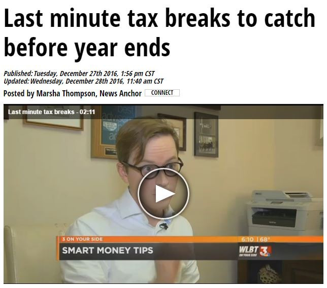 Last Minute Tax Breaks to Catch Before Year Ends