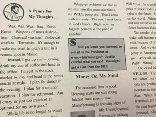 #TBT 2003 Newsletter Volume 29