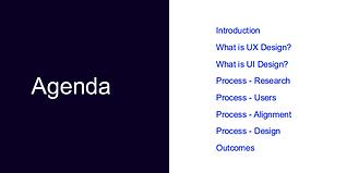 UX Class Agenda