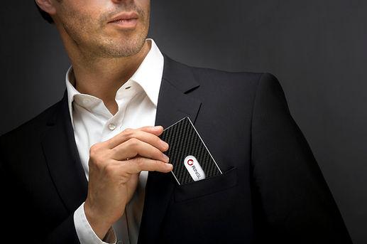 Cardissimo, Ringl, Carbon, Visitenkarten, Geschenk, high quality, business cards, Kreditkartenetui, Karbon