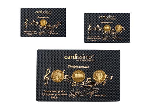 Philharmonika, Münze, Gold, Caron, Karte, Geschenk, Cardissimo, Ringl, Geburt, Hochzeit, Taufe, wedding