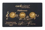 Geschenk, gift, Carbon, Karte, Cardisssmo, Ringl, Hochzeit, Geburt, Geburtstag, Münzen, Philharmonika, Freude