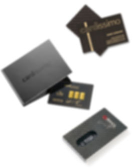 Accesoires, Carbon, Cardissimo, Ringl, Geschenk, gift, present, Gold, diamonds, business cards