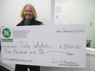 Congratulations Judy Whiteley, Driver at Main Line Transit, for receiving Employee Excellence Award!