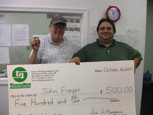 Congratulations John Freyer, Dispatcher at Main Line Transit!