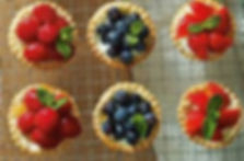 Fresh fruit tarts made to please