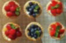 Fresh fruit tarts made to please