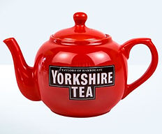 Big red Yorkshire tea pot